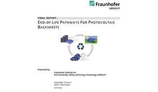 FRAUNHOFER UMSICHT研究所关于背板LCA以及EOL影响的创造性研究